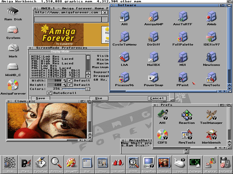 Amiga Emulation Sample Screen